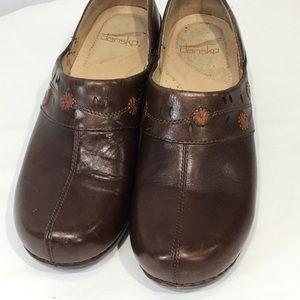 Dansko Sausalito Clog Brown Leather Sz 40 EUR